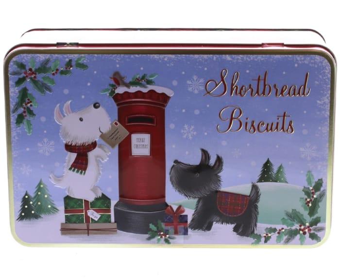 Cheap Scottie Dog Shortbread Biscuit Tin - Only £1.99!
