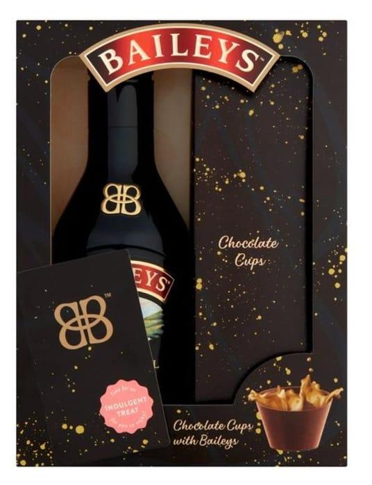 Baileys Chocolate Cups with Baileys Gift Set 200ml