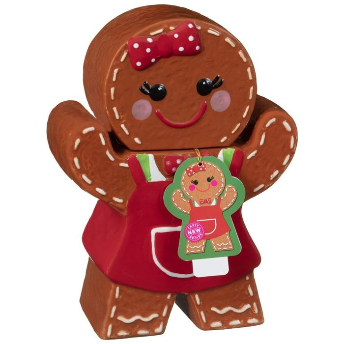 Cheap Gingerbread Woman Cookie Jar & Biscuits at B&M - Only £4.99!