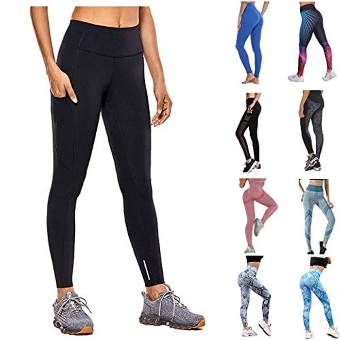 Yoga Pants Sports Gym High Waist Leggings