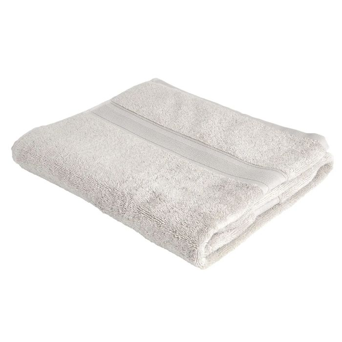 Supersoft Grey Cotton Bath Towel