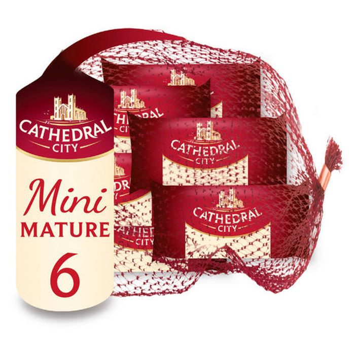 Cathedral City Mini Mature Cheddar Cheese 6 X 20g