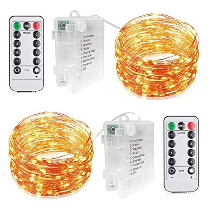 AIGUMI LED Fairy Lights Battery Powered String Lights with £5 off Coupon