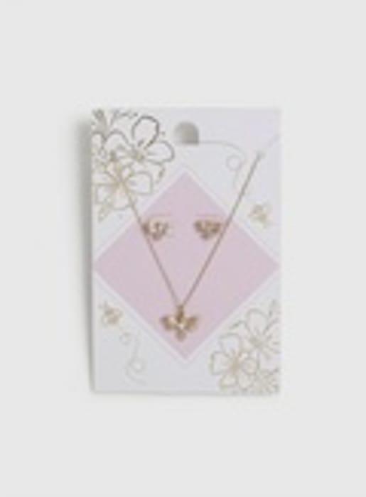 Rhinestone Bee & Earrings Gift Set