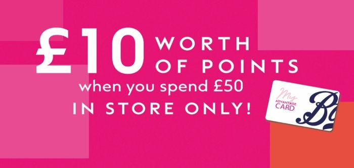 Collect £10 worth of Points for Every £50 You Spend* in Store^ This Weekend.