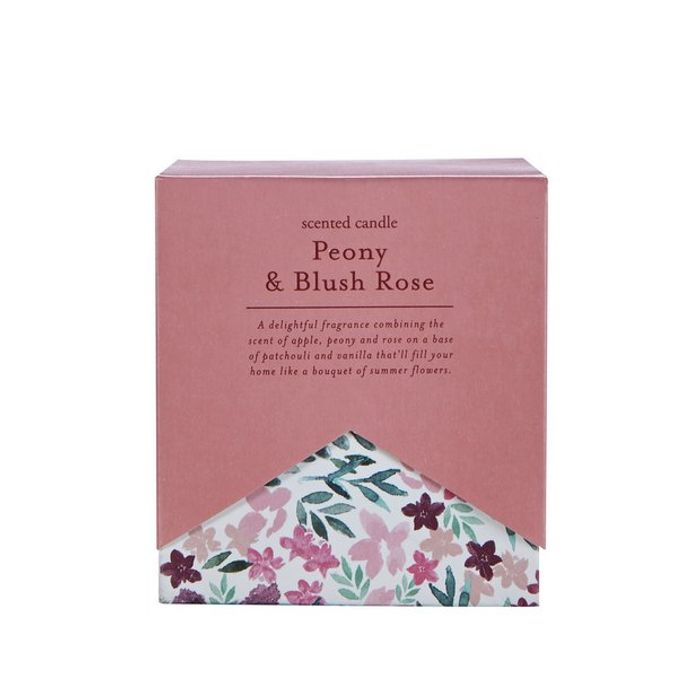 Argos Home Peony & Rose Boxed Candle