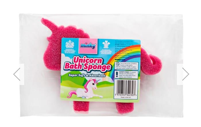 Minky Unicorn Sponge