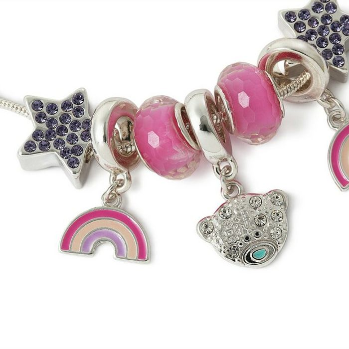 Me to You Silver Plated Rainbow Beaded Children's Bracelet