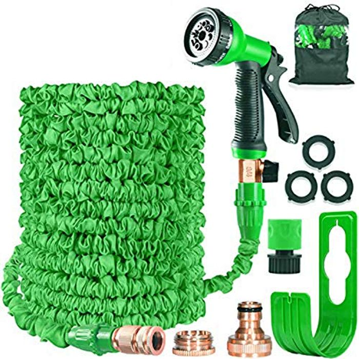 Garden Hose Expandable Hose Pipe 50FT (lightning deal & £7 voucher)
