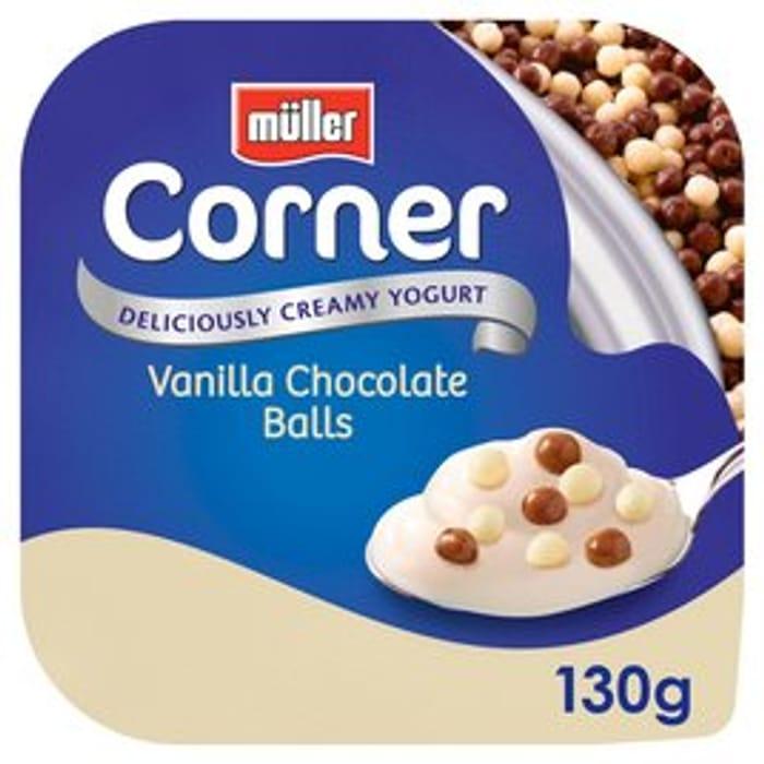Muller Corner Vanilla Chocoball Yogurt BUY 10 for £3