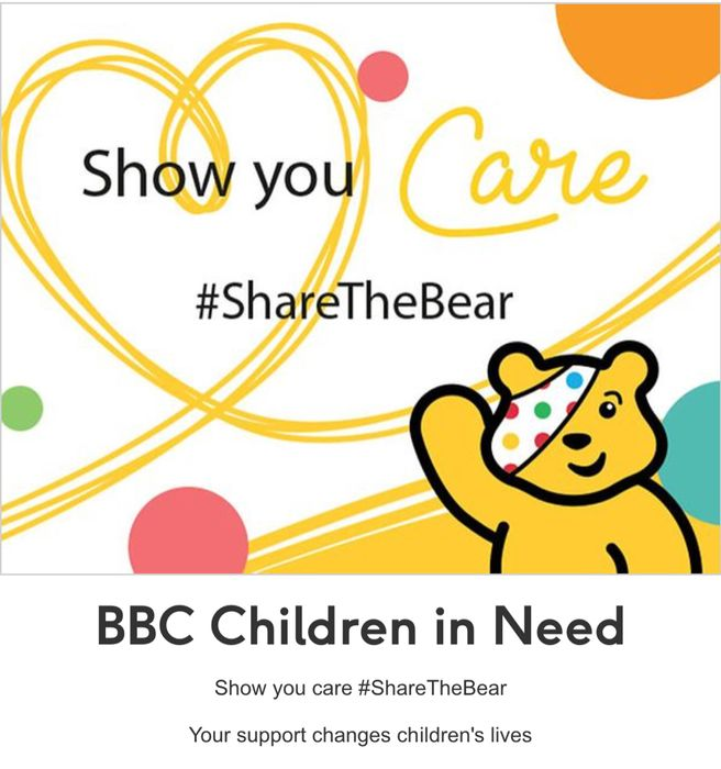 BBC Children in Need Show You Care Your Support Changes Children's Lives