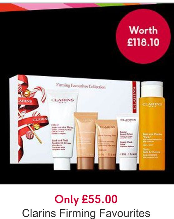 Black Friday - Only £55 on Clarins Firming Favourites Collection, worth £118.10