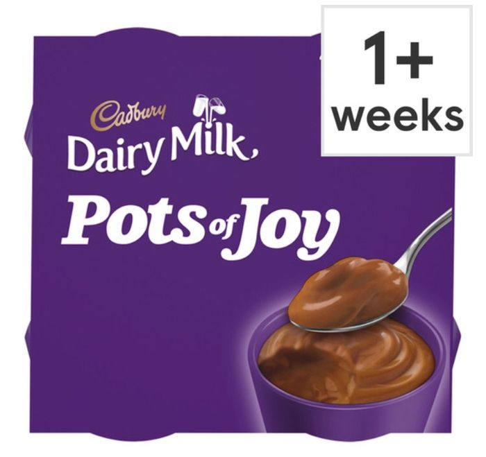 Cadbury Dairy Milk Pots of Joy Chocolate Dessert 4Pack 260G