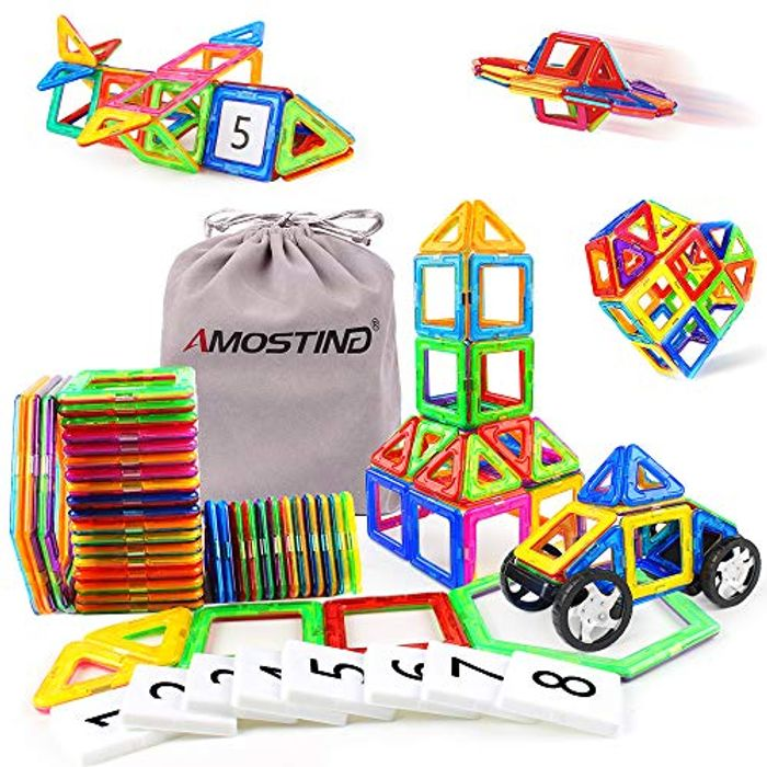 DEAL STACK - AMOSTING Magnetic Building Blocks for Kids + £6 Coupon
