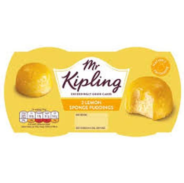 Mr. Kipling Exceedingly Good... Lemon Sponge Puddings 2x95g - Only £1!