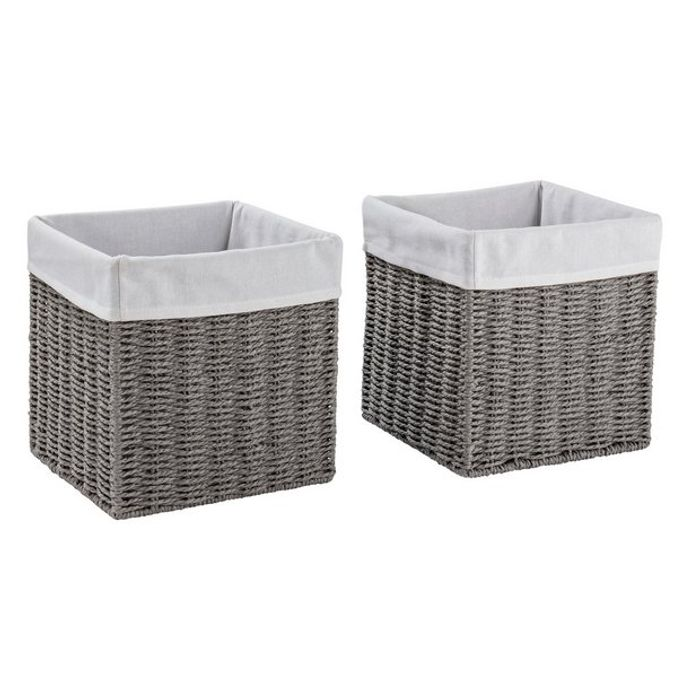 Argos Home Set of 2 Rope Storage Baskets - Grey