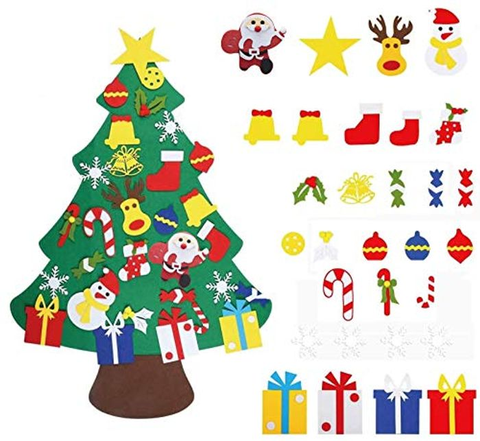 Felt Christmas Tree with 30 Piece Ornaments