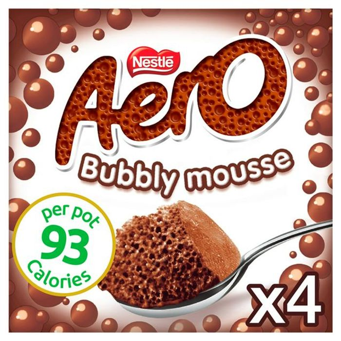Nestle Aero Mousse, Milk Chocolate 4x59g