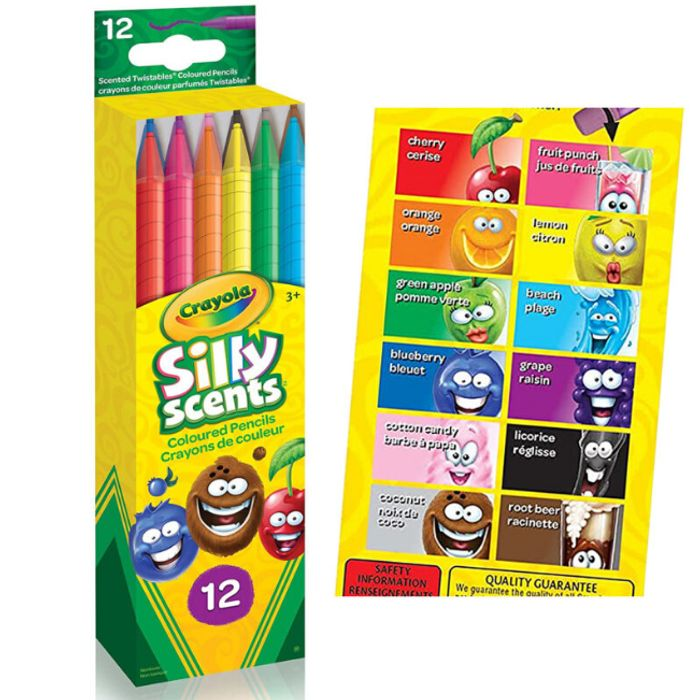 Pack of 12 Crayola Silly Scent Pencils FREE UK DELIVERY