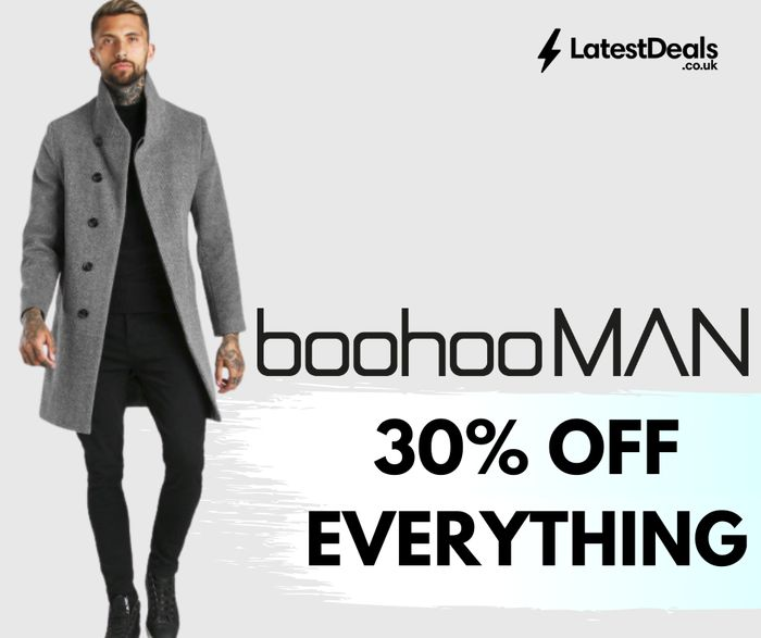 boohooMAN 30% Off Everything + £1.99 Next Day Delivery!