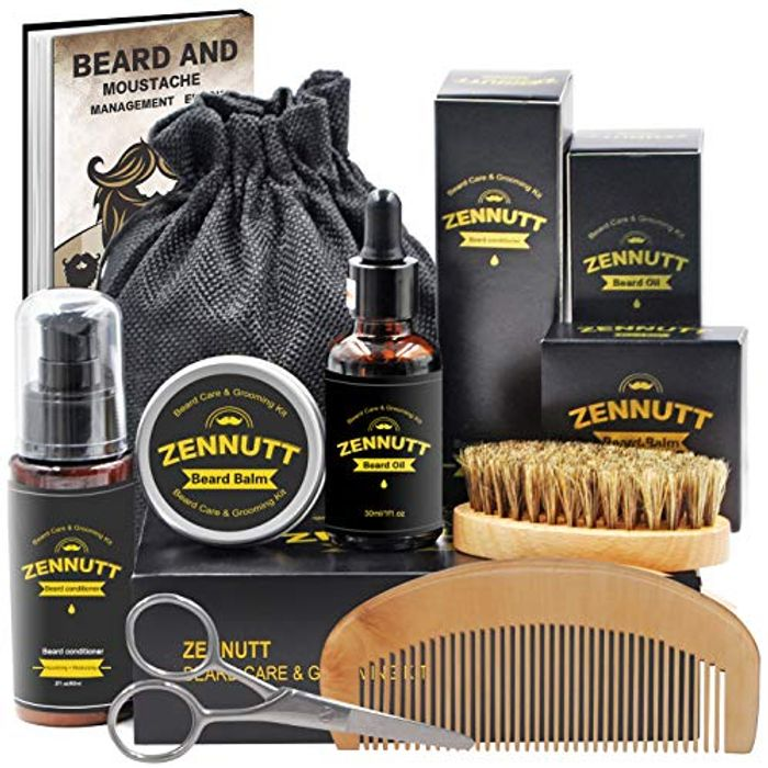 Beard Grooming Kit,Beard Care Kit for Men with £11 off Coupon