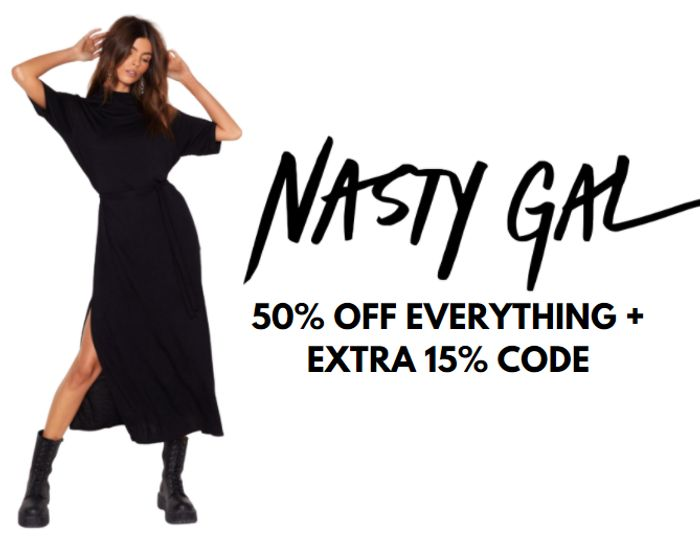 Nasty Gal - 50% Off EVERYTHING + Extra 15% Off Code