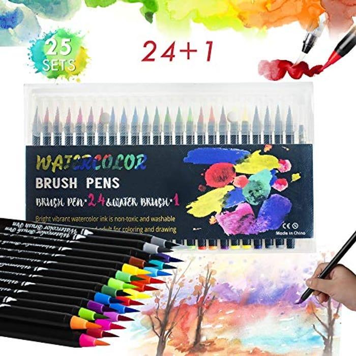 24+1 Watercolour Brush Pens