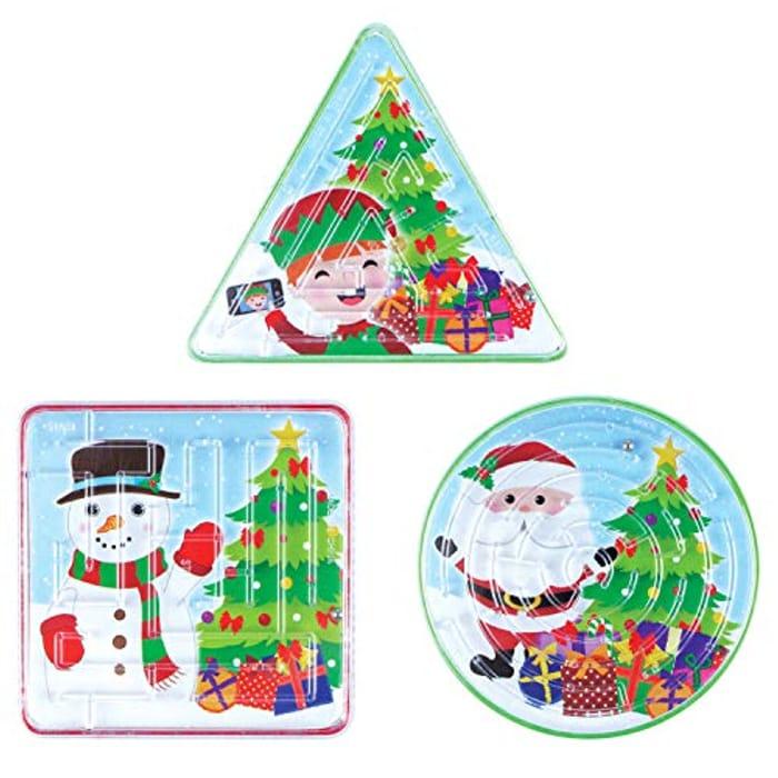 6 Christmas Maze Puzzles