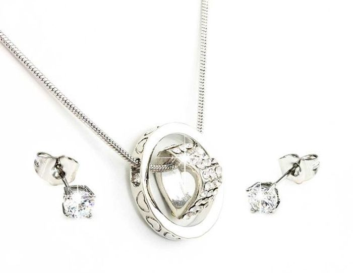 FREE Silver/Gold Necklace & Earring Set