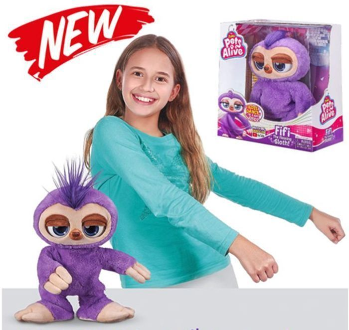 CHEAP! PETS ALIVE - FIFI - The Flossing Sloth (Watch the video!) Boppi's cousin!