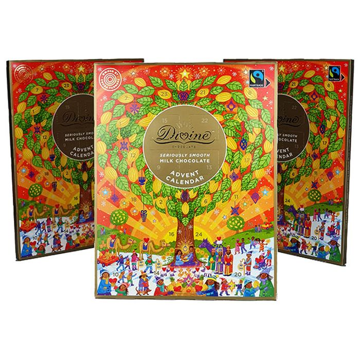 3 Divine Smooth Milk Chocolate Advent Calendars