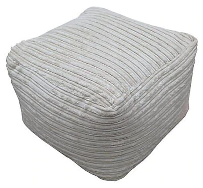 Metropolis Plain Bean Bag Cube - Stone
