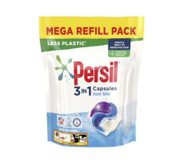 Persil Powercaps Non Bio Washing Liquid Capsules 50 Washes