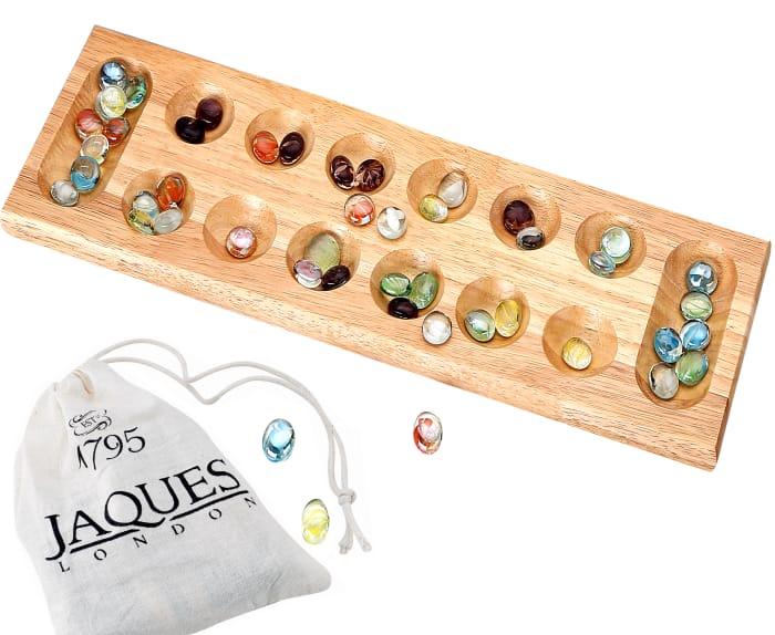 "Jacques LondonMancala - Luxury Mancala Board 17"""