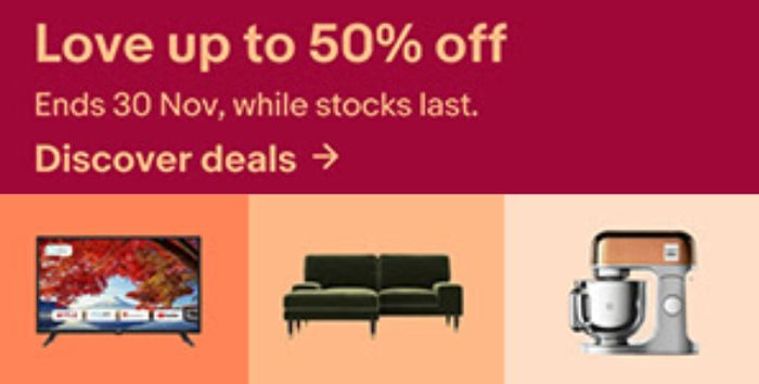 50% off eBay Black Friday Deals & Extra 20% off with Code