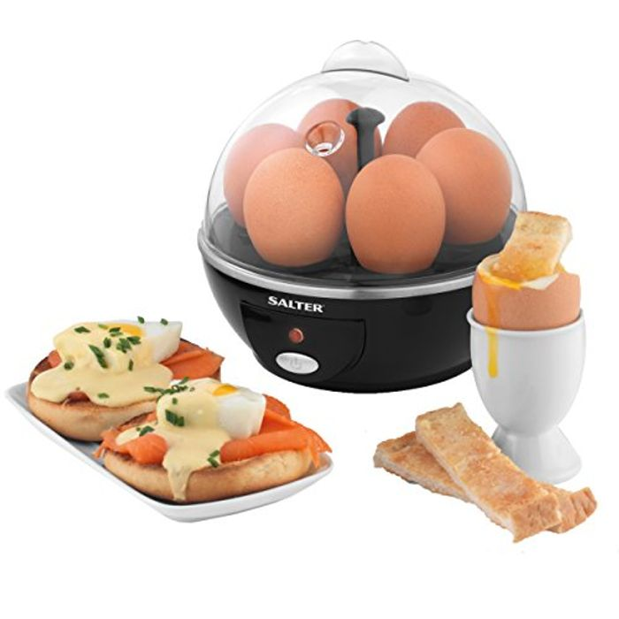 Salter EK2783 Electric Boiled and Poached Cooker | 430 W | 6 Egg Capacity