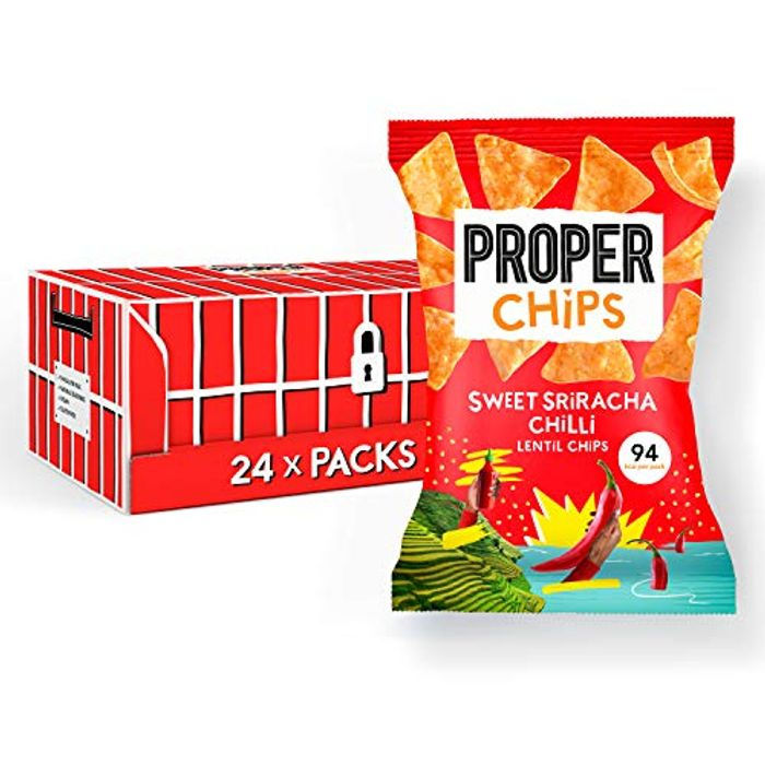 Proper Sweet Sriracha Lentil Chips, 20 G * 24 Packs