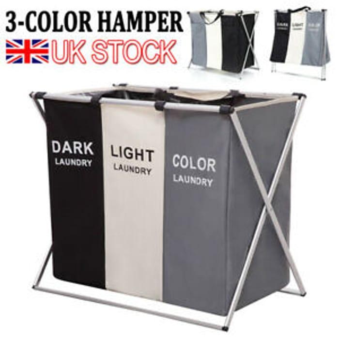 Black & Grey & Beige Laundry Basket