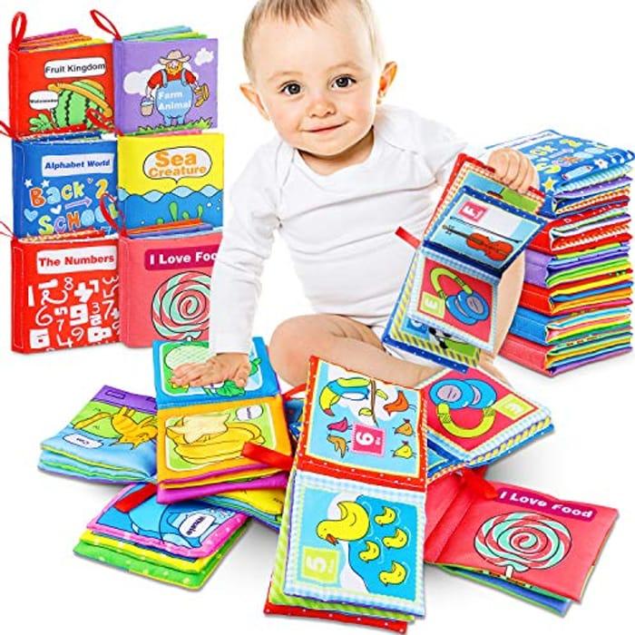 Lightening Deal - RenFox 6pcs Soft Books for Babies Toddlers