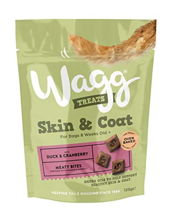 Wagg Duck and Cranberry Skin and Coat Dog Treats 125 G, Pack of 7
