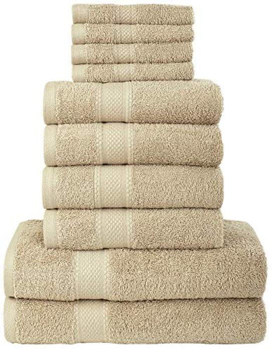 Daily Use 10 Piece Bath Hand Face Towel Bale Set