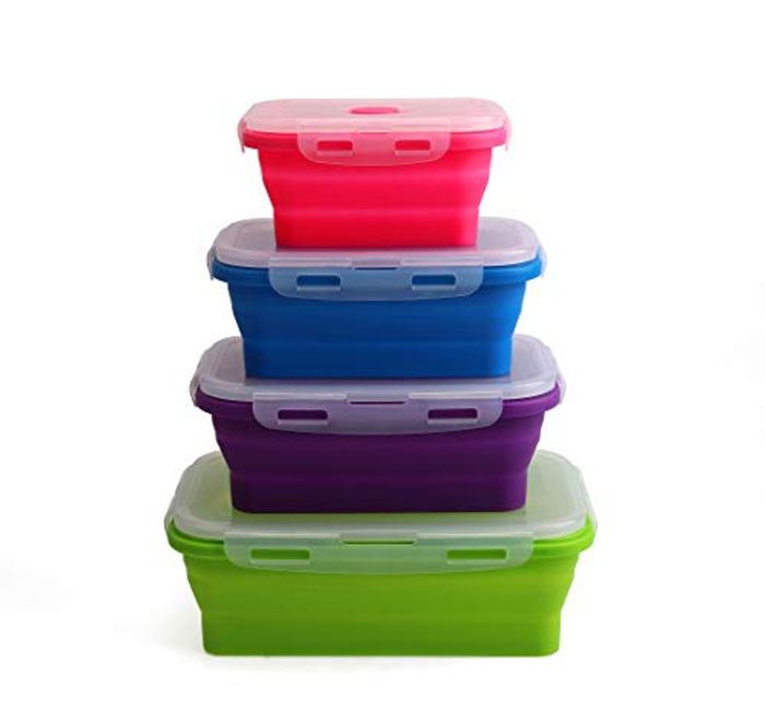 Price Drop! Silicone Collapsible Food Storage Containers - Set of 4
