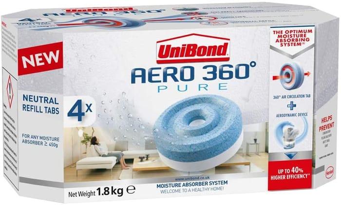 4 X UniBond AERO 360 Degree Moisture Absorber Neutral Refill Tab