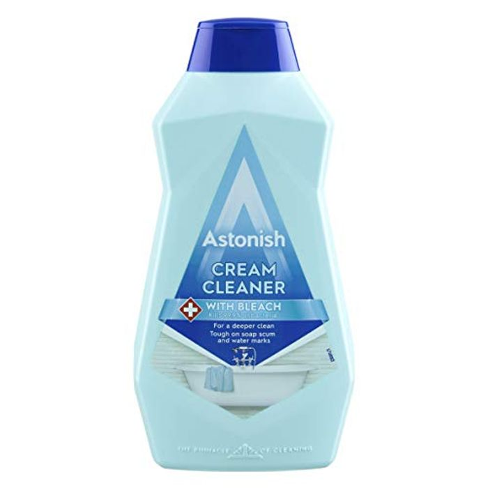 Astonish Cream Cleaner with Bleach, 500ml for £1 Only