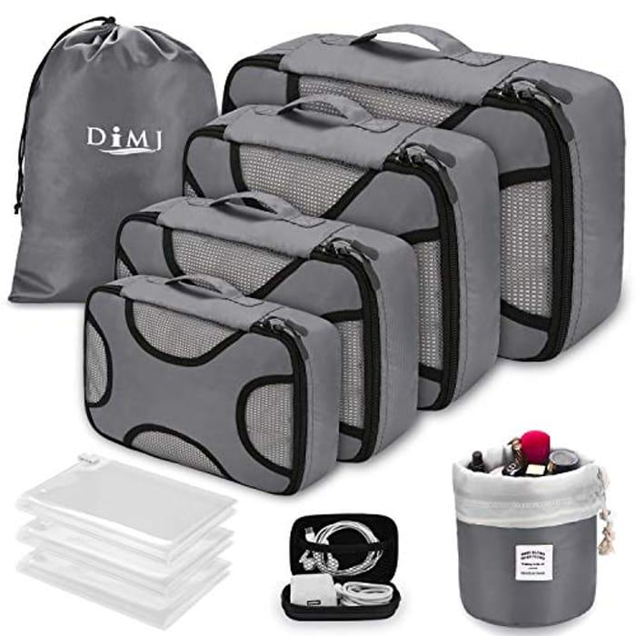 10 PCS Luggage Organiser Packing Cubes