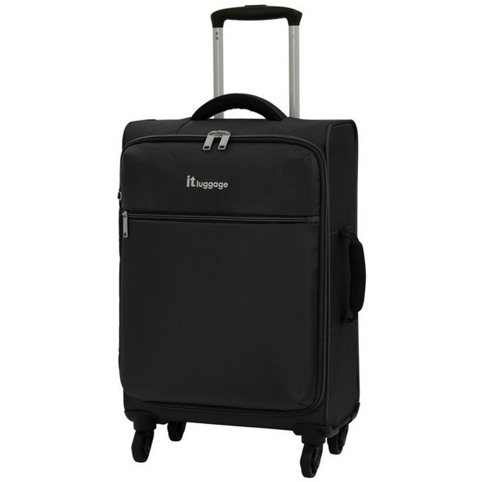 It Luggage the Lite 4 Wheel Soft Cabin Suitcase - Black - Only £15!