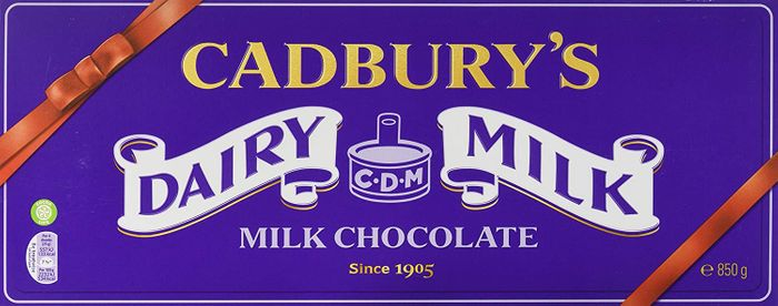 Giant Cadbury Dairy Milk Chocolate Bar 850 G