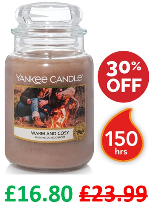 Warm & Cosy - Yankee Candle Scented Candle - Large Jar