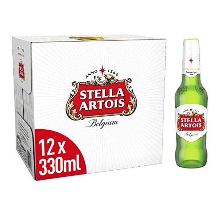 Stella Artois Premium Lager Beer Bottles, 12x330ml