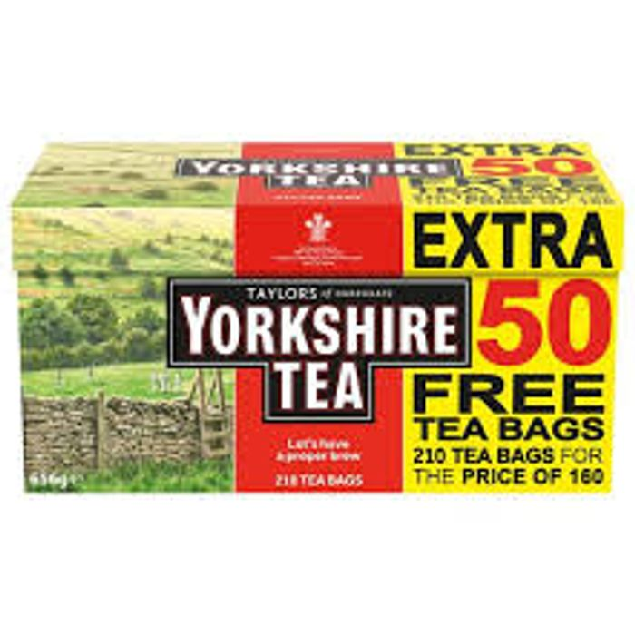 Yorkshire Tea 160+50(210) Original 656G - Only £3.4!